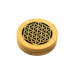 Circular Bamboo Incense Burner Set