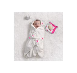 Aden and Anais Classic Baby Bath Wrap - Fluro Pink