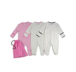 The Essential One - ESS188 - Baby Girls 'You are Perfect' Sleepsuits - 3 Pack
