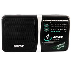 Geepas - 4 Band Radio With TV Sound AM/SW/FM/TV - GR6821