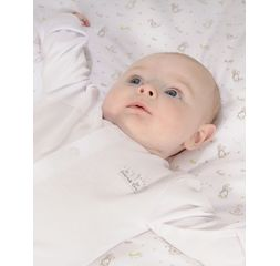 The Essential One - ESS1 - Essential White Unisex Baby Sleepsuits - 3 Pack