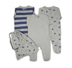 The Essential One - ESS137 - Baby Boys Handsome Bear Sleepsuits - 3 Pack