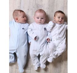 The essential one - ESS73 -  Baby Boys Pastel Sleepsuits - 3 Pack