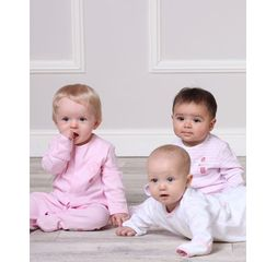 The Essential One - ESS74 - Baby Girls Pastel Sleepsuits - 3 Pack