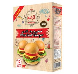 Al Zaeem Mini Beef Burger 360gms (12pcs)