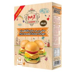 Al Zaeem Mini Breaded Chicken Burger (10pcs)