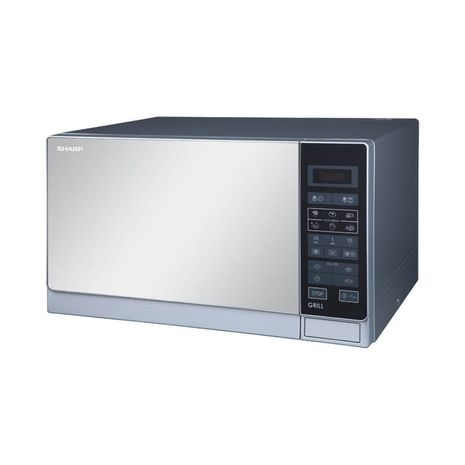 SHARP - MICROWAVE AND GRILL 25 LTR SILVER - R-75MT(S)