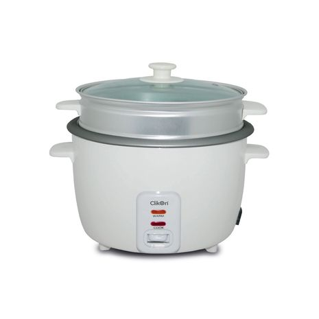 Clikon Rice Cooker With Steamer 1.8L 700W