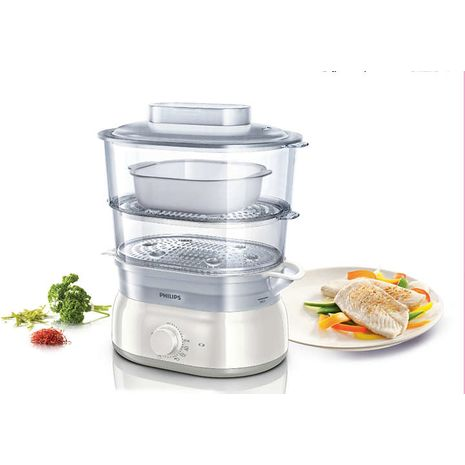 Philips Food Steamer 5 Ltr 2 Baske - Hd9115/01