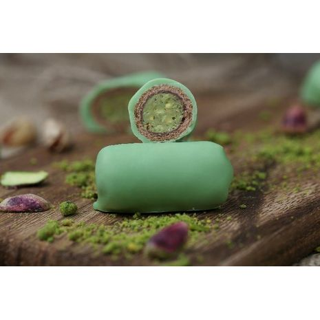 Chocolate Roll Biscuit Pistachio Paste - Green