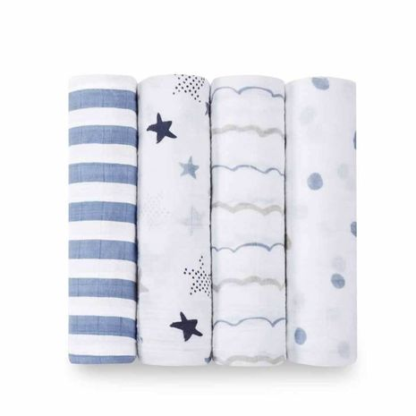 Aden+Anais - rock star 4-pack classic swaddles