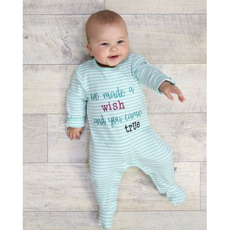 The Essential One - ESS191 - Baby Girls Made a Wish Sleepsuits - 3 Pack