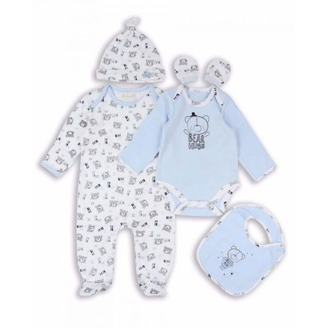 The Essential One - TESS15 - 5 Piece Tiny Bear Baby Starter Pack