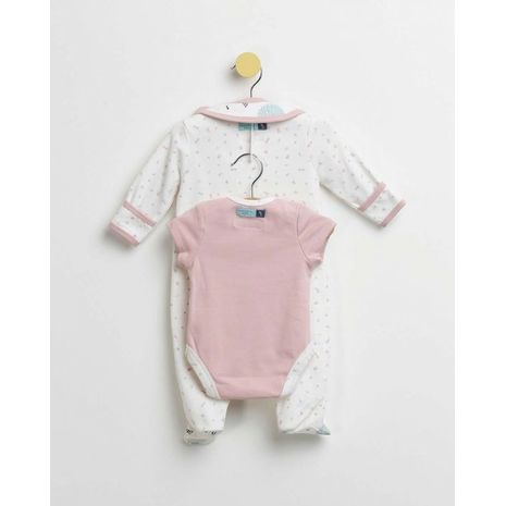 The Essential One - BESS23 - 5 Piece Moon and Stars Baby Girl Starter Pack