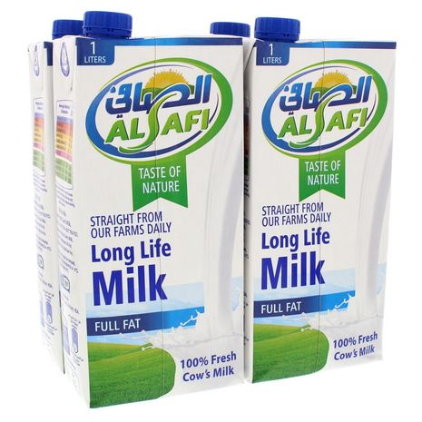 Alsafi long life milk 1L (4 pcs) - 6281022180336