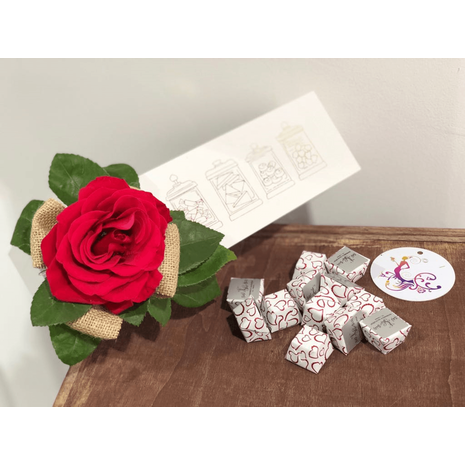Heart Melt Chocolates & Rose